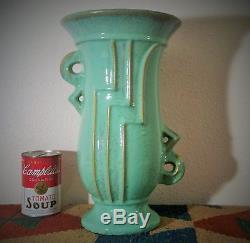 12.25 DECO FULPER vtg studio art pottery table vase atomic futura streamline