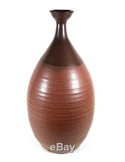 12 7/8 Vintage Northwest Studio Art Pottery Weed Vase Pacific Stoneware Oregon