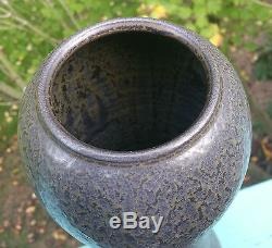 16.5 HONOLULU reid ozaki vtg studio art pottery vase stoneware japanese seattle