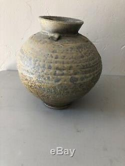 1960's Colorado Regionalist JIM LORIO Studio Pottery VASE Mid Century Modern Vtg