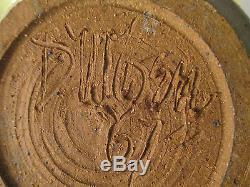 1967 mid century modern calif utah studio art pottery vase vtg danish signed