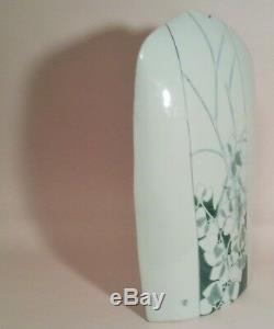 1978 IKUZI TERAKI JEANNE BISSON vtg japanese celadon ikebana vase studio pottery