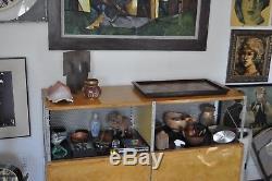 1985 Harding Black Vtg Mid Century Modern Ceramic Texas Studio Art Pottery Vase