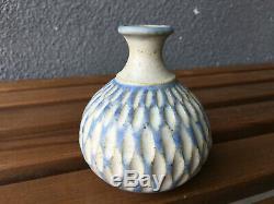 2 Rose Dodds Studio Pottery Vase Pot Vintage Ceramic MID Century Berkeley Ca Era