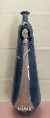 3 Signed Vintage Polia Pillin (1909-1992) Mid Century Studio Pottery Vases
