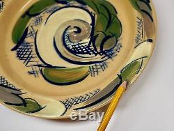 3 Vtg Mid Century Mod Studio Art Pottery Low Bowls Signed Nelson Dated 1940 & 54