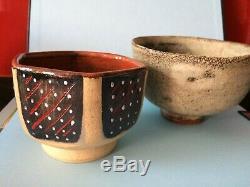 3 x Unusual Vintage Studio Pottery dishes