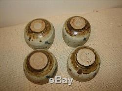 4 Vintage VIVIKA and OTTO HEINO Studio POTTERY Cups Bowls