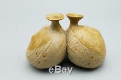 60s modern vtg Studio Pottery HEIJU OAK PACKARD Japanese American weed pots (4)