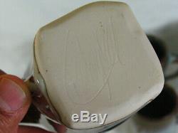 6 Bill Campbell Studio Art Pottery Coffee Tea Mugs Cups Signed Vintage Tumblers