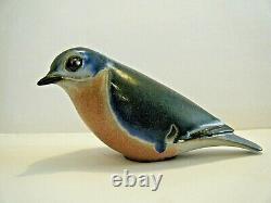 6 Vintage 1981s Andersen Design AD Studio Sitting Bluebird Art Pottery Figurine