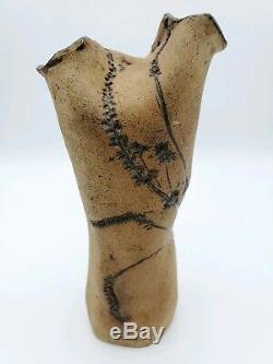 7 3/4 Vintage Tamara Unger Stoneware Studio Art Pottery Vessel Vase