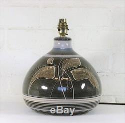 A Large Vintage Denby Fresco Ceramic Table Lamp Retro Design Studio Pottery