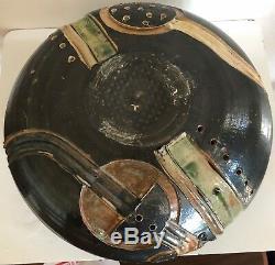 Amazing Vintage Ceramic Studio Pottery Decorative Bowl Mid Century Modern Signed