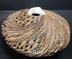 Anne Goldman Studio Art Pottery Textural Vase Vintage Signed