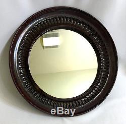 Art Studio Ceramic Framed Round Mirror 1960-70s Vintage Great Condition 15 dia