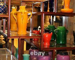 Awaji Studio Pottery Old or Antique Japanese Prunus Cherry Blossom Vase Lamp