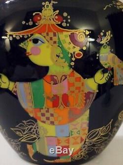 Beautiful Vintage Rosenthal Bjorn Wiinblad Studio-Linie Blue Vase Germany