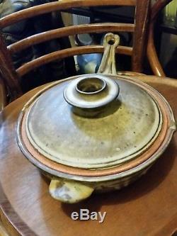 Bill Sax Flameware Vintage studio pottery mid century danish modern folk art
