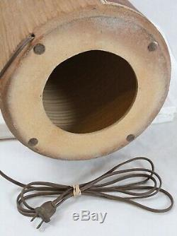 Bob Sakoda 1981 Studio Pottery Incised Vintage Table Lamp Danish Modern