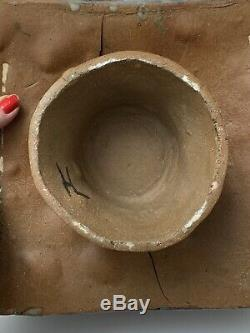 Brutalist Studio Ceramic Vase Ikebana Vessel Vintage Pottery
