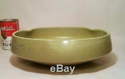 COMPETITION IKEBANA vtg japanese flower studio art pottery vase avocado green