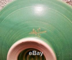 CRICKET vtg studio art pottery insect pedestal table bowl grasshopper seattle