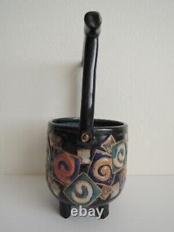 Cache Pot Studio Pottery by Cathra Anne Barker Vintage 1989