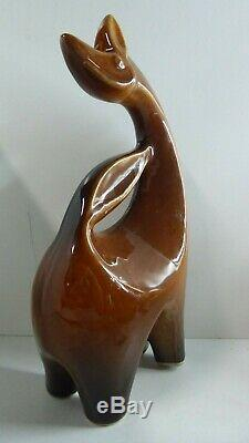 Ceramic Pottery Giraffe Llama Alpaca Vintage MID Century Studio Art Statue