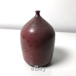 Clyde Burt Studio Pottery Ceramic Stoneware Vase Weed Pot Vtg Mid Century Modern