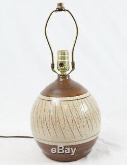 Danish Modern California Ceramic Designers Vintage Studio Pottery Table Lamp