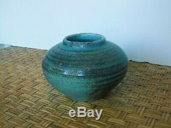 Deichmann Mid Century Vintage Canadian Studio Art Pottery Vase Free Ship