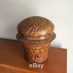 Don Pilcher Studio Pottery Ceramic Lidded Jar Large Vintage Vessel