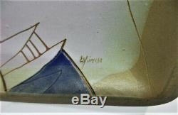 ESTATE Vtg 1960s 70s SUSANA ESPINOSA Studio POTTERY Art Wall PLAQUE Signed