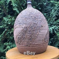 Ed Drahanchuk 1963 Studio Art Pottery Handmade Table Lamp Vintage Midcentury mod