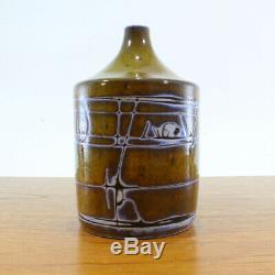 Elly & Wilhelm Kuch Studiokeramik Vase Graphischer Dekor German Studio Pottery