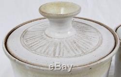 Elmer Gatti Danish Modern Studio Pottery Jar Canister Set Mid Century Loma VTG