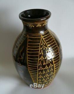 English slipware vase studio pottery collectable vintage antique ceramics