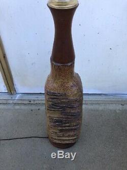 Erwin Kalla 1925- 2005 studio pottery lamp Mid Century Modern Vintage