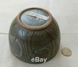 FRANCES SENSKA Vintage Studio Pottery Bowl Bozeman Montana Ceramics