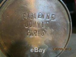 Fabienne Jouvin Cloisonne Vintage Paris French Studio MCM Canister Jar Box