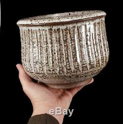 Fine Vintage Colorado Ribbed Studio Art Pottery Pot Vessel Vase Mark Zamantakis