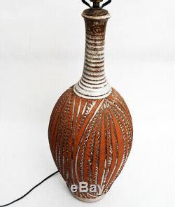 Frank Willett Studio Pottery Ceramic Table Lamp MCM Earthgender Vintage RARE