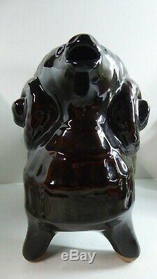 German Es Keramik Pottery Ram Goat Jug Vintage MID Century Studio Art Statue