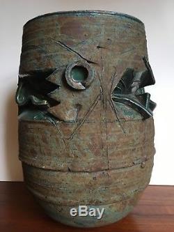 Gerry Williams Vintage Mid Century Modern Studio Pottery Ceramic Stoneware Vase