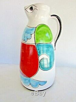 Giovanni Desimone Pitcher Studio Art Pottery Water Jug Vintage Mid Century