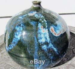 Gorgeous Signed MID Century Modern Vintage Studio Art Pottery Weed Vase