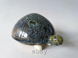 Gunnar Andersson ceramic turtle figurine vintage MCM Swedish art pottery Höganäs