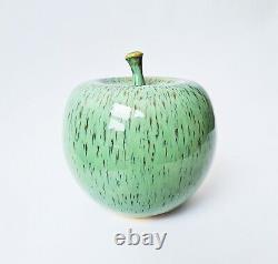 Gunnar Andersson studio pottery ceramic apple vintage MCM Swedish art Höganäs