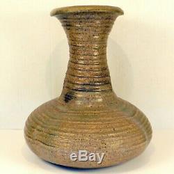 HUGE Vintage KAREN KARNES Stoneware Studio Art Pottery Salt Glaze Vessel Vase